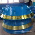 Mn13cr2 M18cr2 Cone Crusher Parts Mantle From Foundry