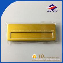 Insignias conocidas en blanco elegante color oro de alta calidad
