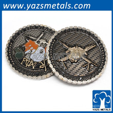 Custom Dual Plating 3D Brass Military Coin