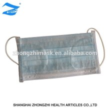 Disposable ISO/CE nonwoven industrial 3 ply medical face mask