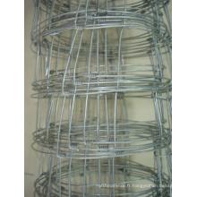 Clôture métallique à mailles grillées électro-galvanisées (anjia-522)