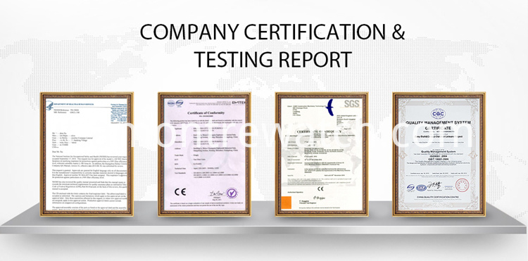 certification& test report