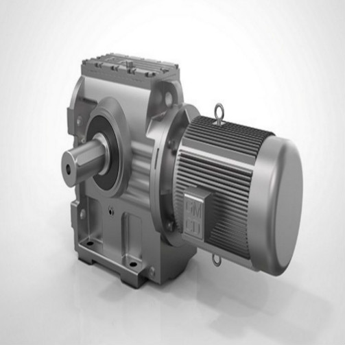 Flange Mounted Helical Worm Gear Motor Poros Padat