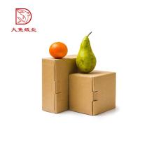Logo personnalisé pas cher drôle recyclable ondulé boîte de carton d'aliments frais en malaisie