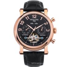 Relojes mecánicos de los hombres auténticos de la manera del negocio Hueco impermeable de lujo Ambiente minimalista