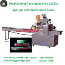 Gzb-350A High Speed Pillow-Type Automatic Toothbrush Flow Wrapping Machine