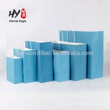 Promotionnel coloré sac de papier kraft personnalisé en gros