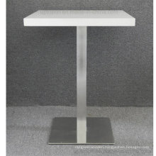 Galvanized Base Square Dining Table for Fastfood Canteen (SP-RT323)