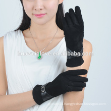 High quality women fashion cheap suede leather gloves