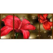 Handgemalte moderne Segeltuch-Kunst-Blumen-Ölgemälde (FL3-185)