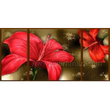 Hand Painted Modern Canvas Art Flower Oil Painting (FL3-185)