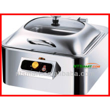 Rectangle induction chafing dish/ glass lid( enclosed,with induction cooker plate)