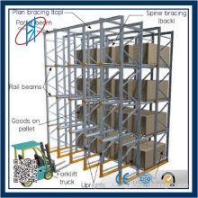 Drive-in Pallet Racking With Top Bracing & Full Spine Bracing