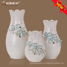 heißer Verkauf kundengebundener Porzellan-Blumenvase für Hochzeitsdekoration