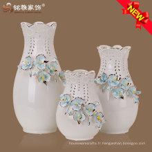 vase à fleurs en porcelaine personnalisée à vente chaude pour décoration de mariage