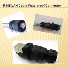 RJ45 Cable LAN Conector impermeable