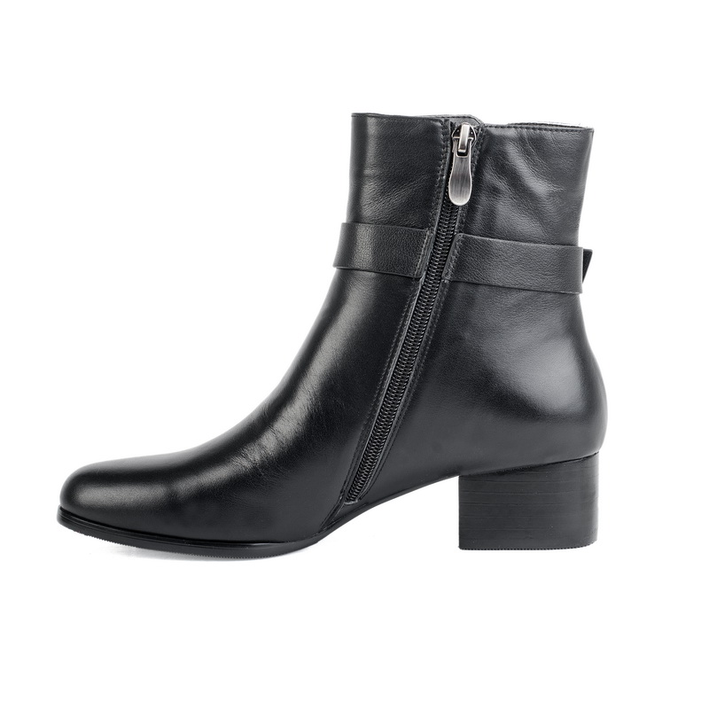 women classy winter strap boots genuine leather
