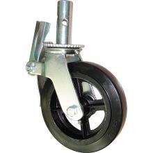 Gerüst-Caster mit 6in 8in schwarzem Gummi-Form-On-Stahl-Rad