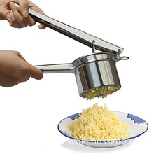 stainless steel potato ricer with 3 interchangeable discs for baby food strainer