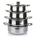 American Style Cookware Pot en acier inoxydable avec kit de cuisine Bakelite Handle