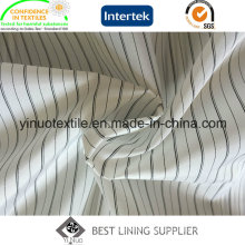 Polyester Men′s Suit Black and White Sleeve Lining Fabric