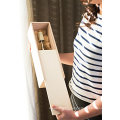 Pine Wood Unfinished wooden crafts wine box with Slide Lids