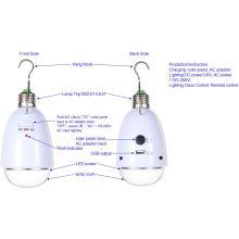 Éclairage Lumière d'ampoule d'énergie de charge d'énergie solaire de l'Afrique
