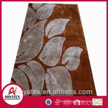 plush shaggy carpet door mat 100% polyester shaggy plain carpet