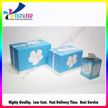 Promoção Cosméticos e Cuidados com a Pele de Natal Gift Set Caixas de Embalagens de Papelão