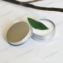 Frasco de creme cosmético de alumínio 100g com tampa de Scew