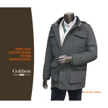 Fashionable Classic Young Men Parka with Detachable Hood