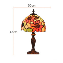 Vintage Antique Tiffany Stained Glass Tiffany Flower Table Lamps For Home Decor