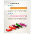 hospital disposable pink identification tape plastic write on bands ID bands