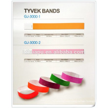 hospital disposable tyvek bands patient name card