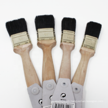 Natural Wood Handle Black Bristle Paint Brush Set Water and Oil Paints Brushes
