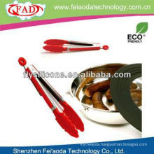 China Heat Resistant Factory Price Metal & Silicone Grill Tongs