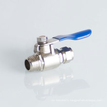 Industrial brass water inlet angle valve faucet  wholesale Two Way Brass Ball Valve