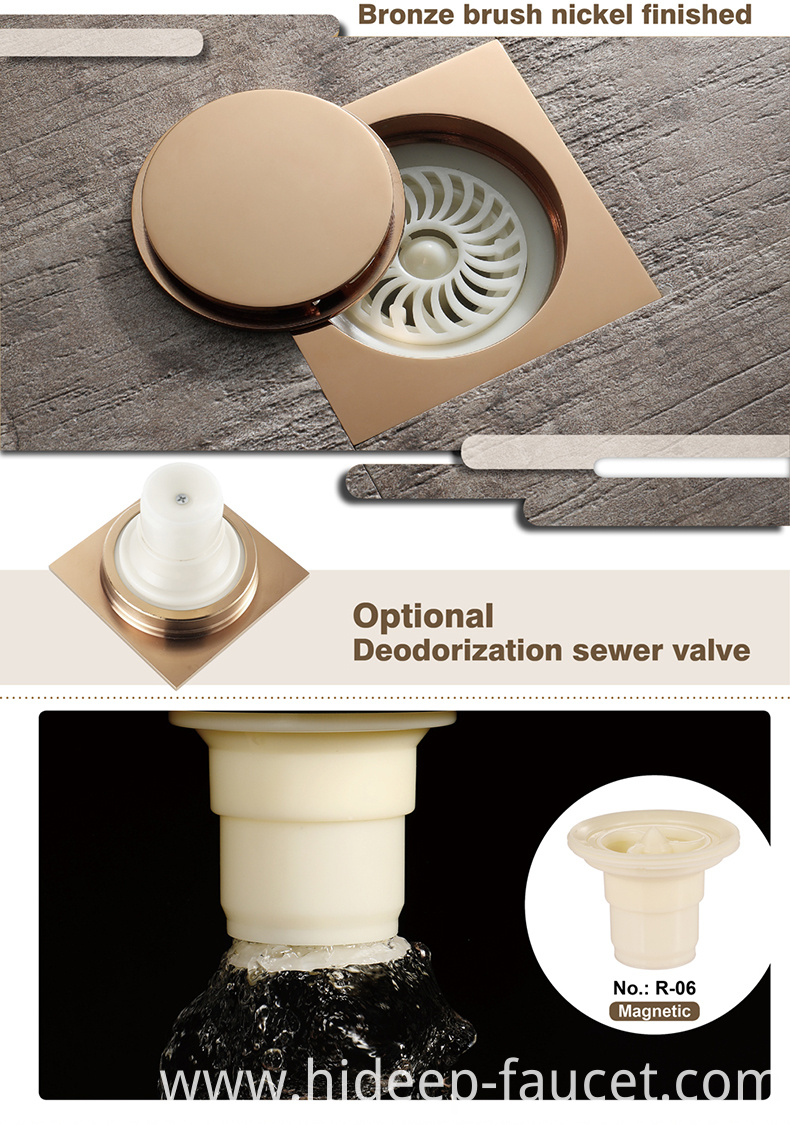 Anti Odor Shower Floor Drain