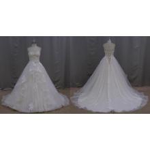 Vestido de noiva de organza de alta qualidade