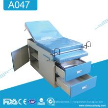 A047 Lit médical d'examen de livraison de gynécologie de manuel médical