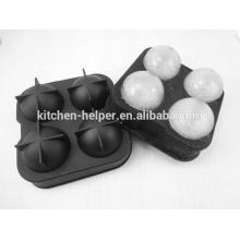 Molde de hielo de silicona fácil de limpiar molde de bola de hielo de silicona personalizado