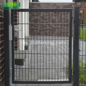 PVC bersalut Galvanized Gate Gate Single Gate dikimpal