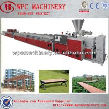 Usando madeira reciclada, casca de arroz, serra, palha como maquinaria de perfil de materiais-wpc, máquina de extrusão de wpc