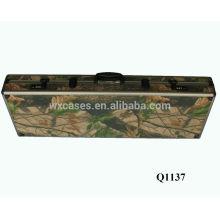 nouvel étui à fusil militaire aluminium arrivée avec mousse à l'intérieur du fabricant chaud vendre
