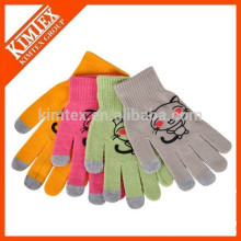 wholesale winter acrylic knit Women's Smartphone Gloves