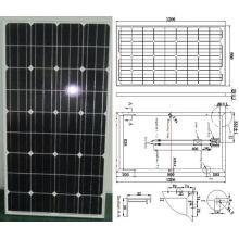 Monokristallines Sonnenkollektor-PV-Modul 18V 130W mit TUV ISO-Zertifikat