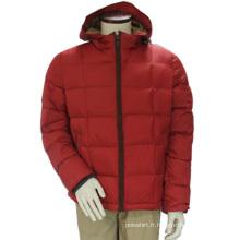 Femmes hiver imperméable coupe-vent vers le bas à capuche rouge loisirs OEM veste