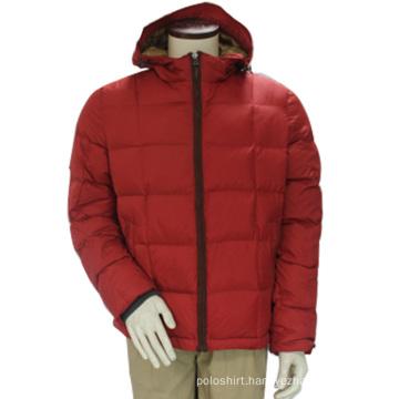 Women Winter Waterproof Windproof Down Hoody Red Leisure OEM Jacket