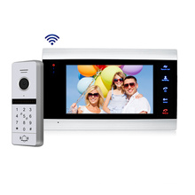 Best sell 2019 door bell with camera screen with remote unlock and monitor