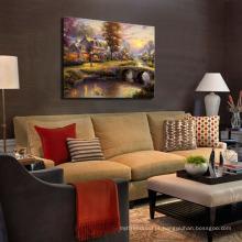 Arte da decoração Paisagem clássica da pintura a óleo